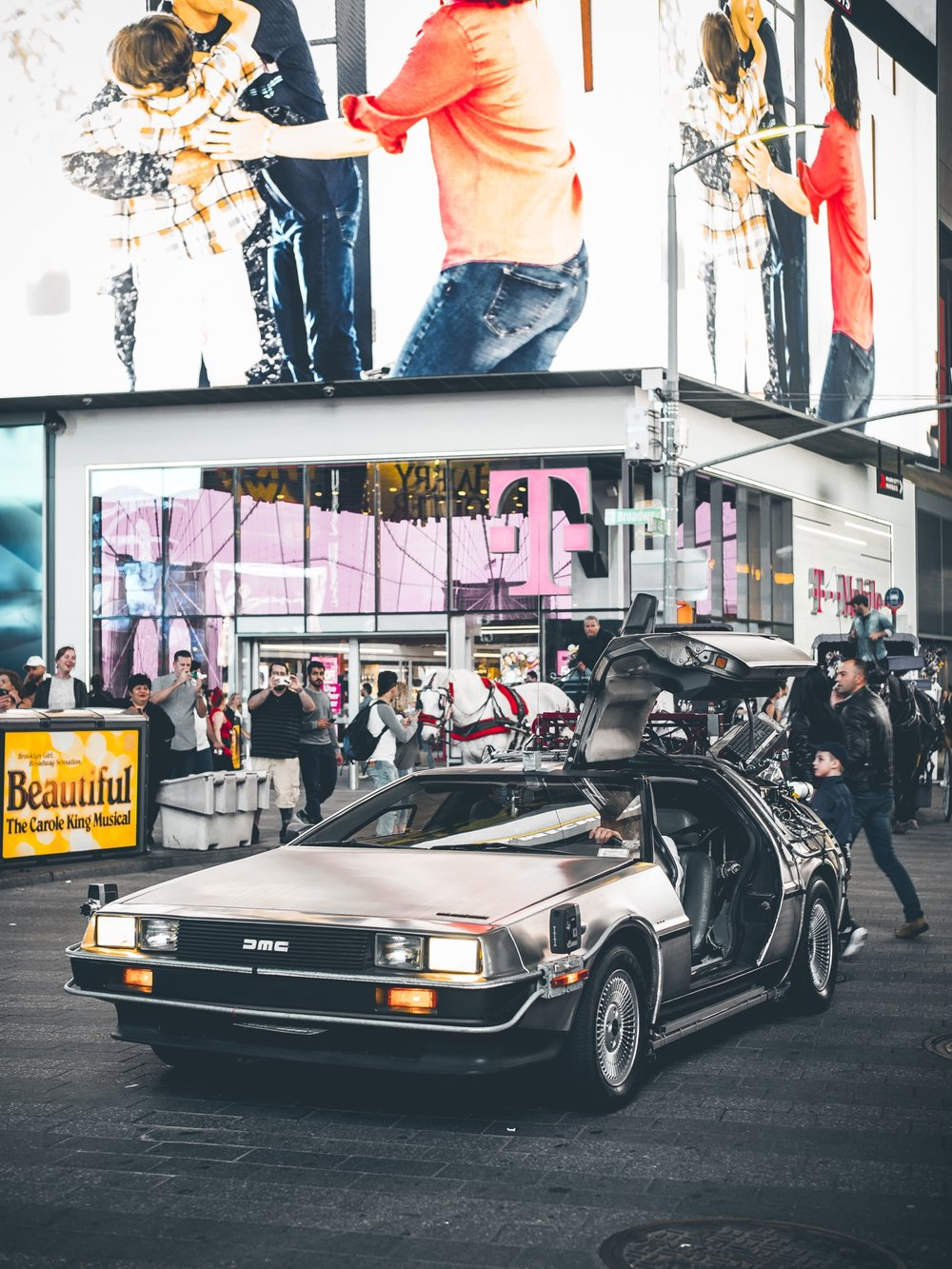 Delorean Back to the Future Times Square NYC New York City
