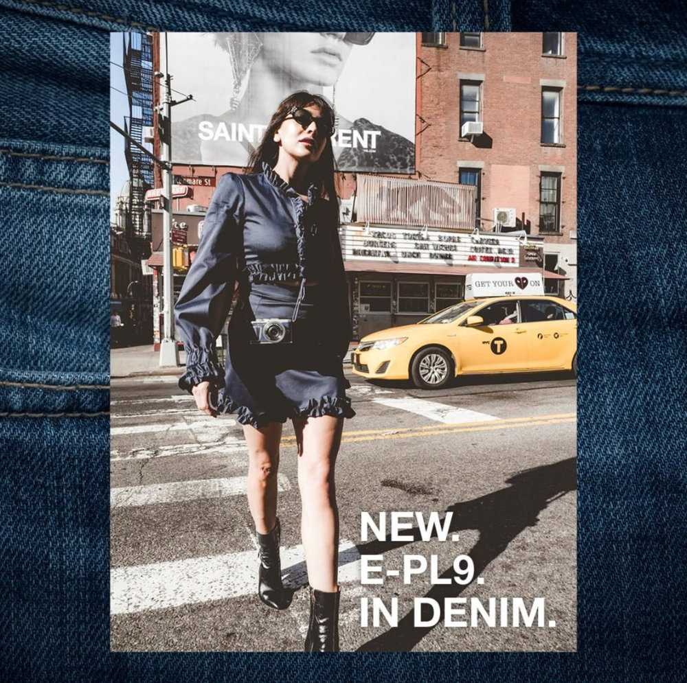 Zara Martin NYC New York City New Olympus PEN E-PL9 in Denim