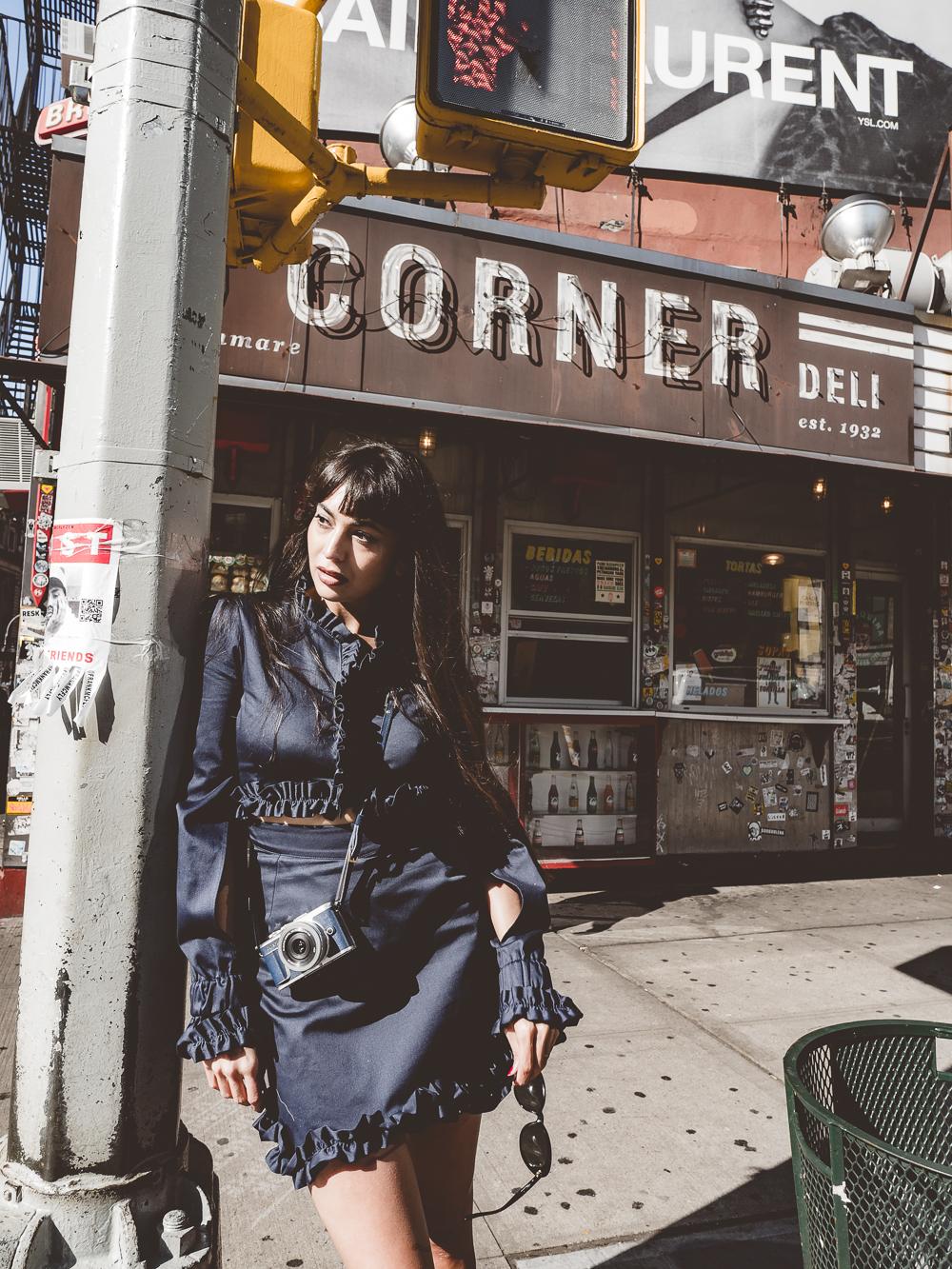 Zara Martin New Olympus PEN E-PL9 in Denim NYC New York City