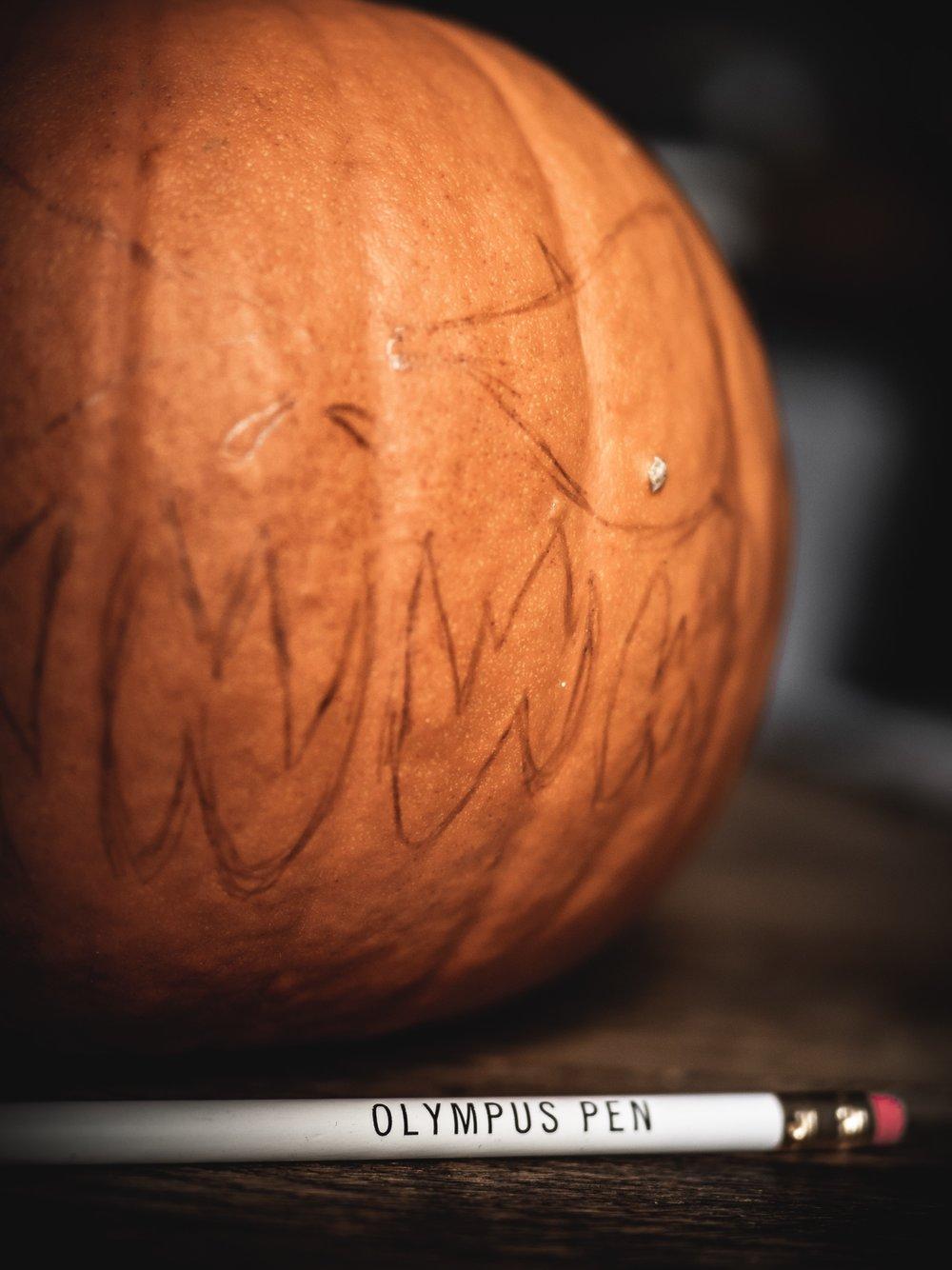 Halloween Pumpkin Carving Jack-o-Lantern Art Craft Creativity Scary Olympus PEN Pencil
