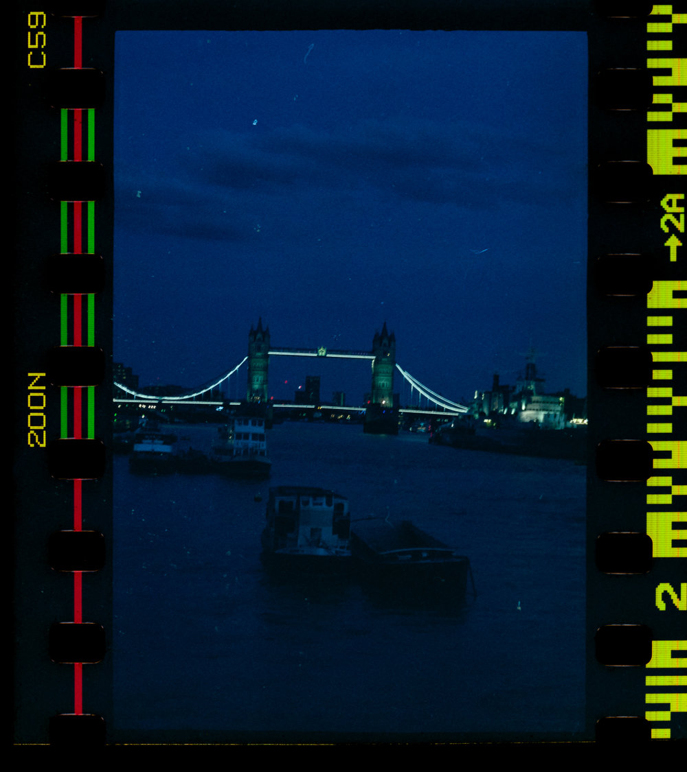 Olympus AZ-1 Zoom 35mm Vintage Film Camera Review Jay McLaughlin Agfa Vista Expired Tower Bridge London