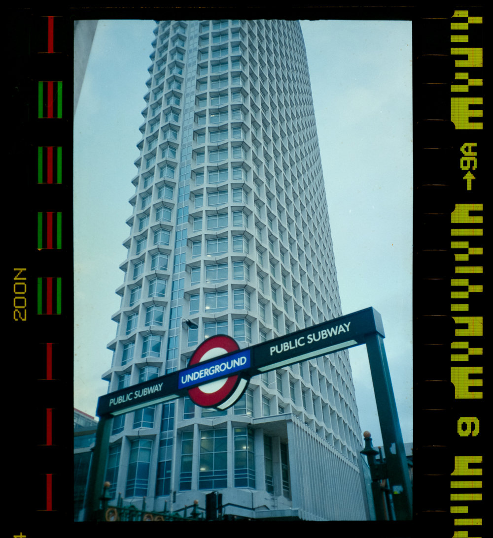 Olympus AZ-1 Zoom 35mm Vintage Film Camera Review Jay McLaughlin Agfa Vista Expired Tube Underground Tottenham Court Road Centrepoint