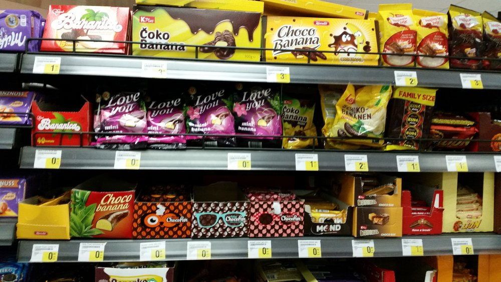 Det er viktig med et bredt utvalg banansjokolade.