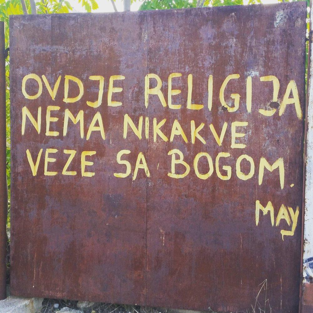 Religion har ingenting med Gud å gjøre her.