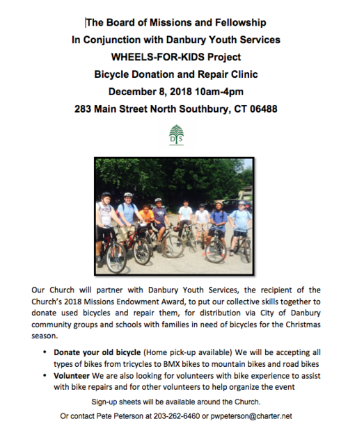 Wheels-for-Kids Project — Danbury Youth Services