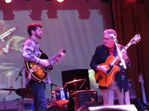 Pete Cavano and son Nolan at Beachland Ballroom, 2016