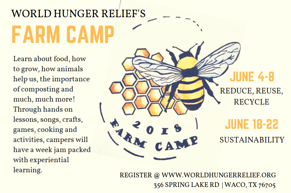 - We invite your children to learn about food, how to grow, how animals help us, the importance of composting and much, much more! Through hands on lessons, songs, crafts, games, cooking and activities, campers will have a week jam packed with experiential learning.