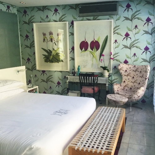 The Flamingo Room: One of 8 guest rooms in this luxurious boutique hotel