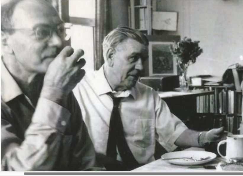 Zellig Harris' influence on Chomsky was 'enormous'. Harris is pictured here, left, beside his friend, the council-communist Paul Mattick. Chomsky had many discussions with Mattick but considered him 'too orthodox a Marxist for my tastes'.