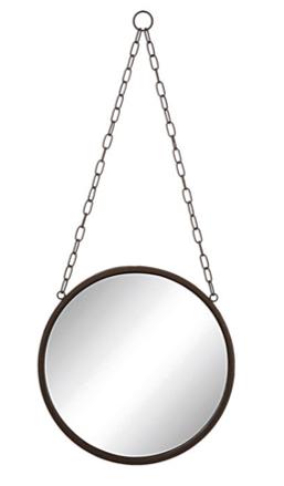 """10"""" Round Metal Mirror $22.98"""