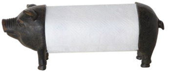 Mtl Pig Paper Towel Holder $29.50