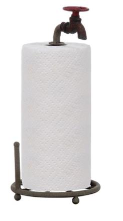Metal Faucet Paper Towel Holder $18.95