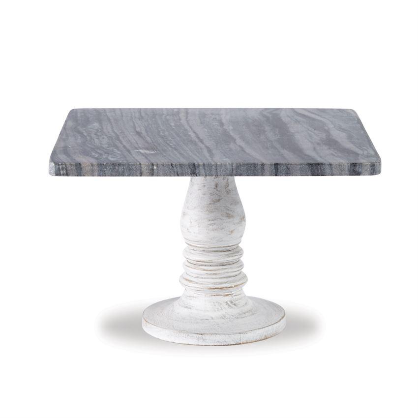White Wash Marble Pedestal $45.98