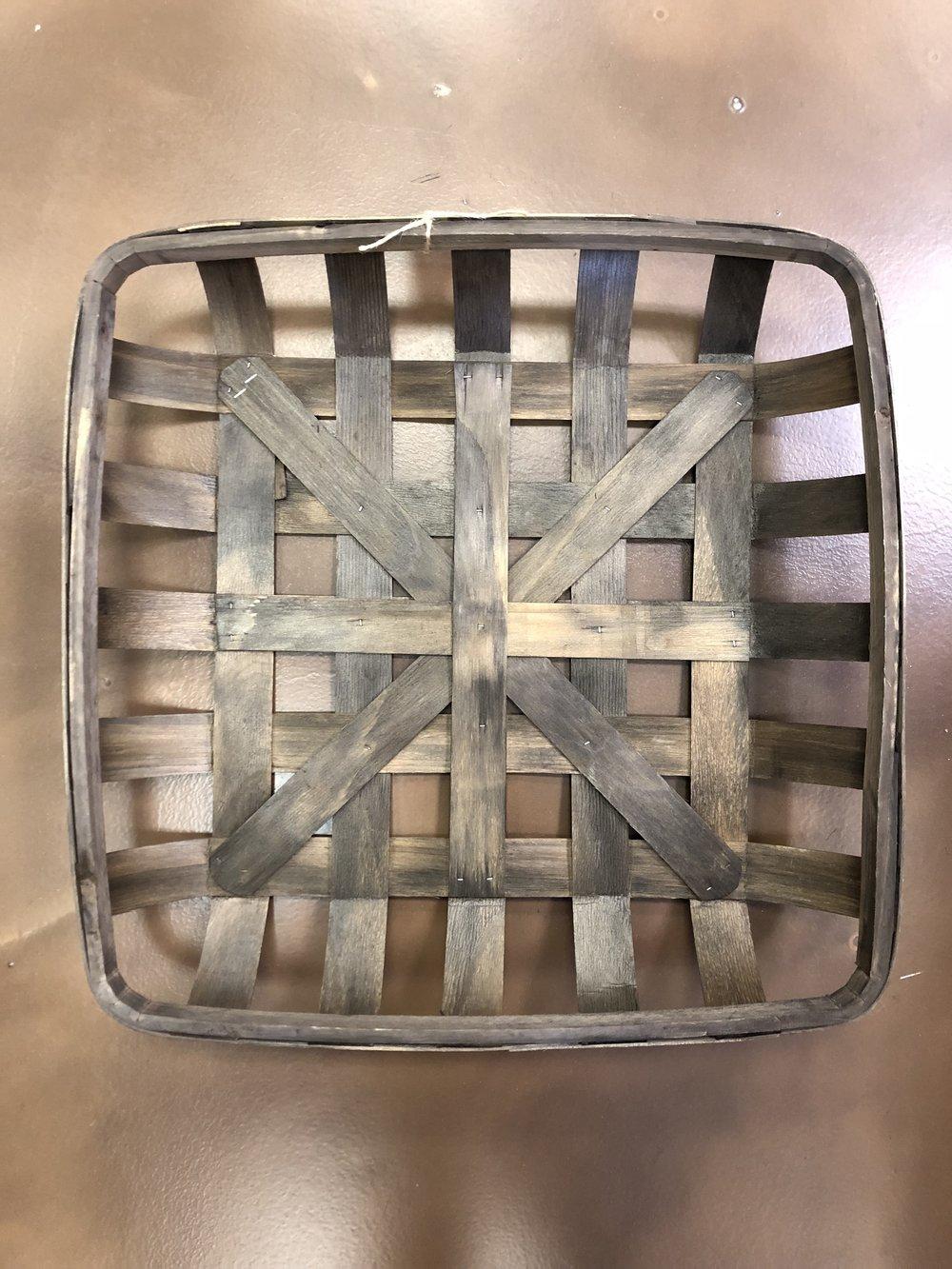 Lg Wood Weaved Basket-Dk Brown $29.98