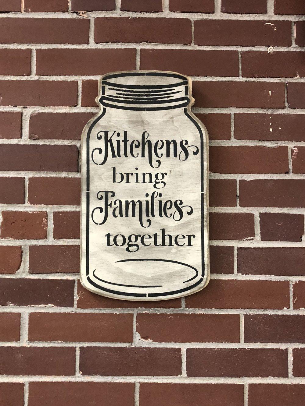 Kitchens Mason Jar Wood Sign $32.95