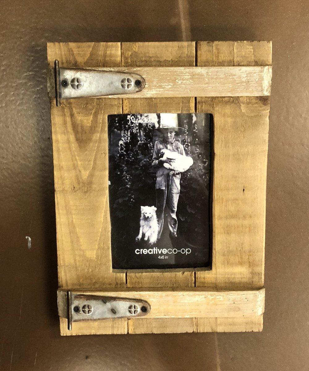 4x6 Wood & Metal Photo Frame $16.95