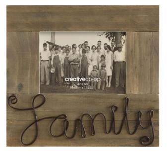 5x7 Pine Photo Frame-Family $22.95