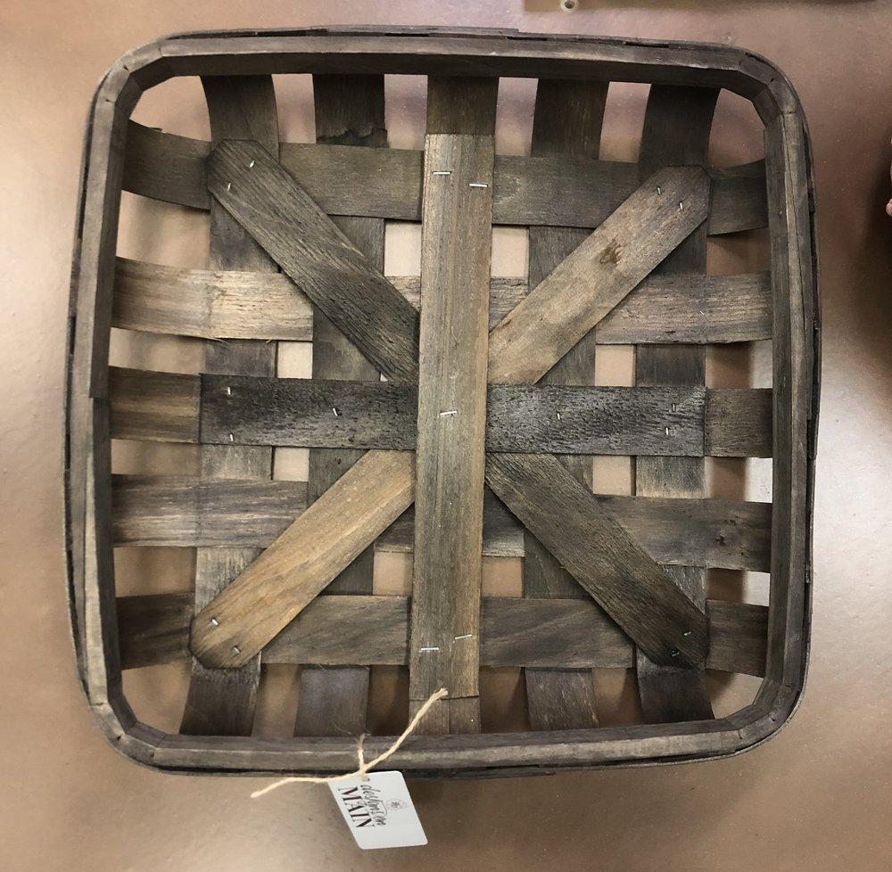 Sm Wood Weaved Basket-Dk Brown $24.98