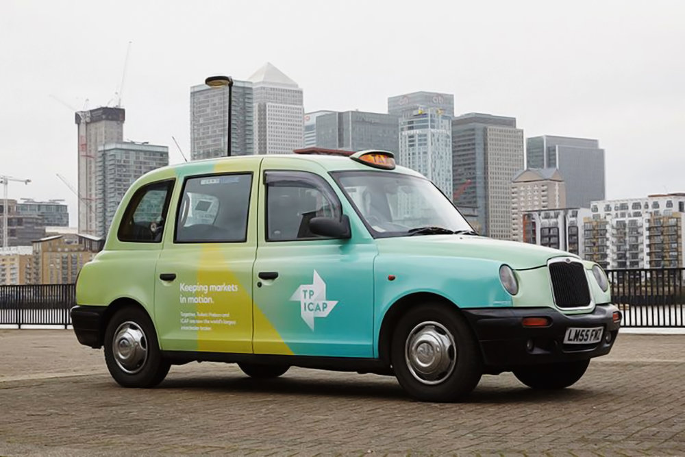 Branded London taxis