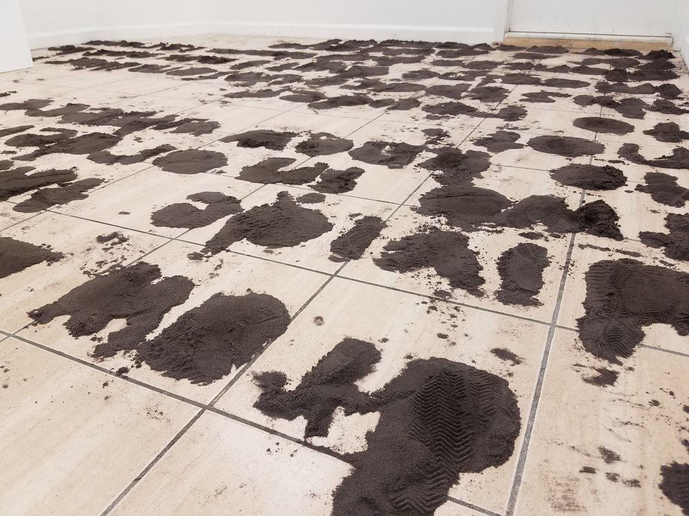 I Draw a Line, 2010-present, Seldon Yuan, Sand, Dimensions variable