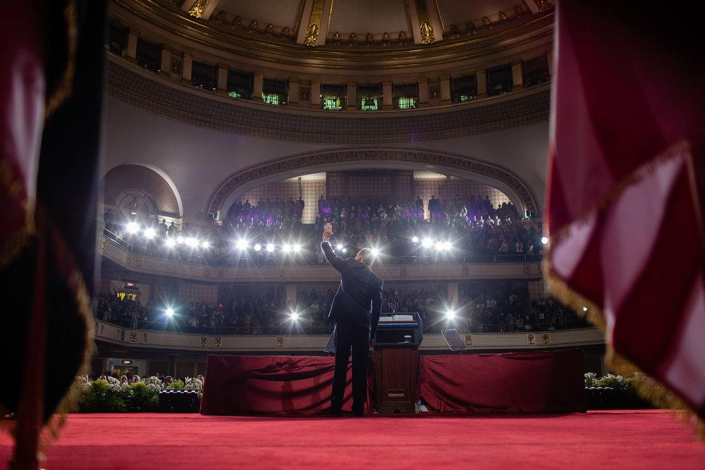 President Barack Obama speaks at Cairo University in Egypt, June 4, 2009.