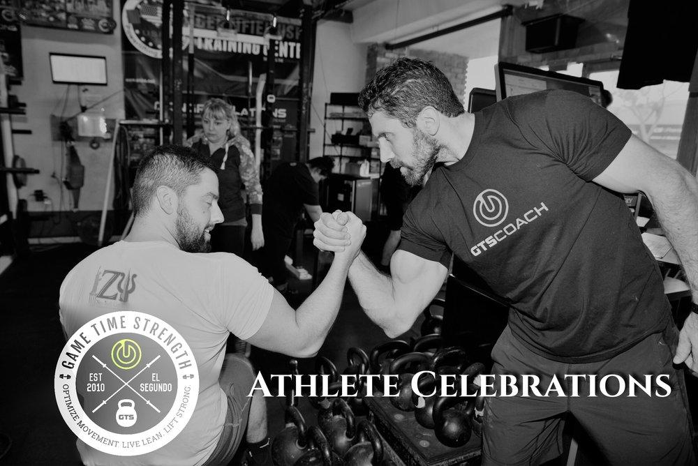 Athlete Celebrations - Game Time Strength Best El Segundo Los Angeles Strength Barbell Gym.JPG