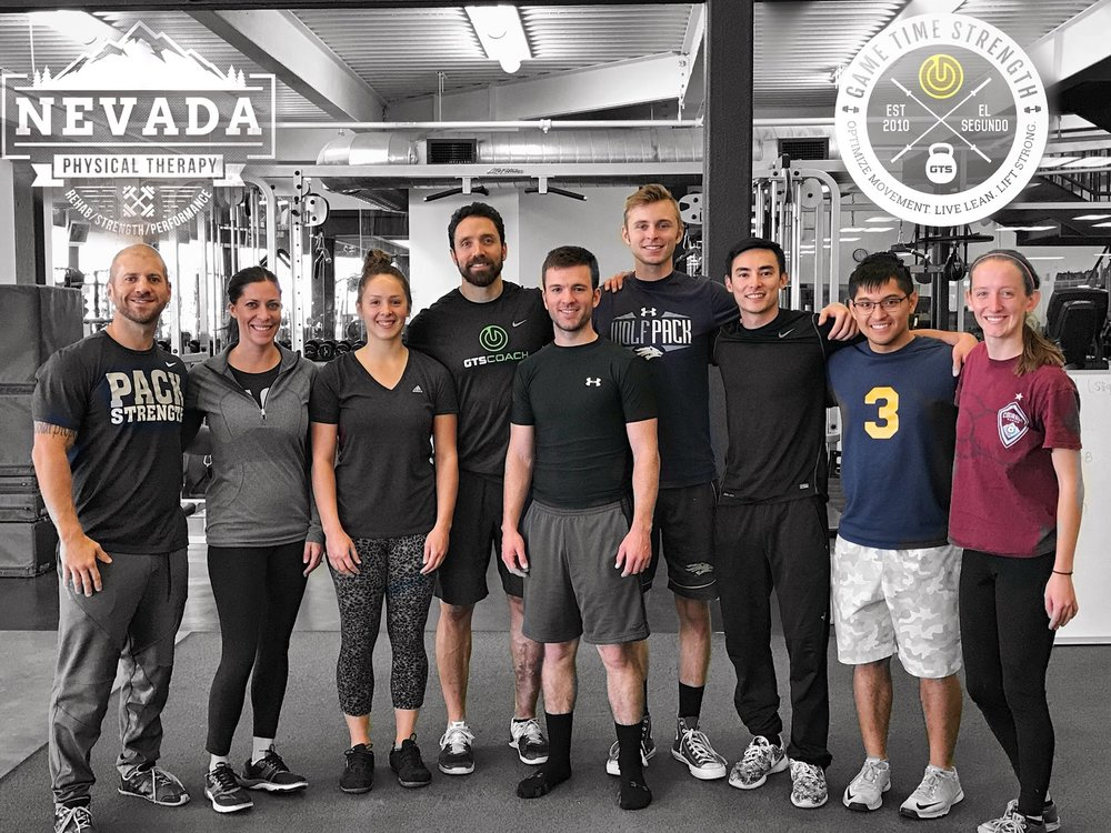 GTS Game Time Strength - Barbell Strength Workshop - Physical Therapy - Reno Nevada - Rehab Strength Performance Los Angeles Coach.JPG