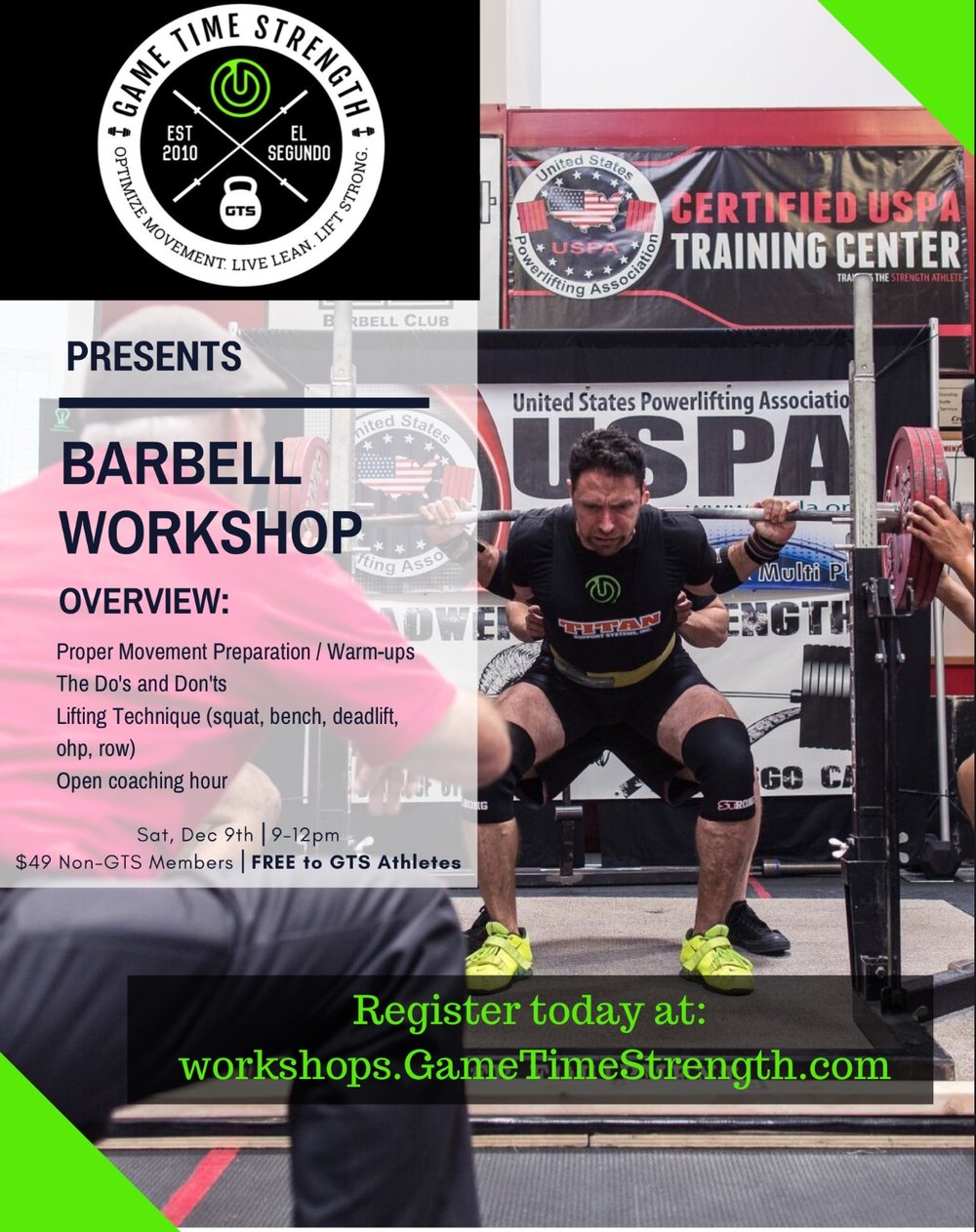 GTS Barbell Strength Workshop - El Segundo Los Angeles Squat Bench Deadlift Press form.jpg
