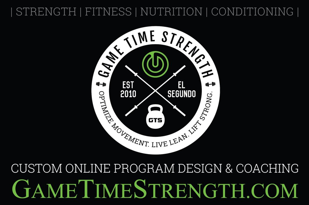 Game Time Strength - GTS El Segundo Los Angeles - Top Rated Personal Training Group Training Coaching System.PNG