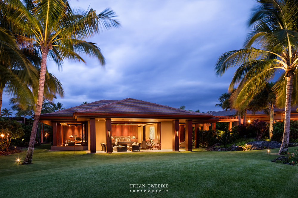 Master Suite Lanai during Twilight
