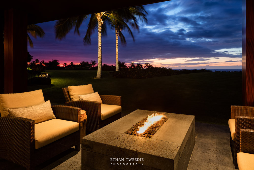 Private Lanai with Firepit