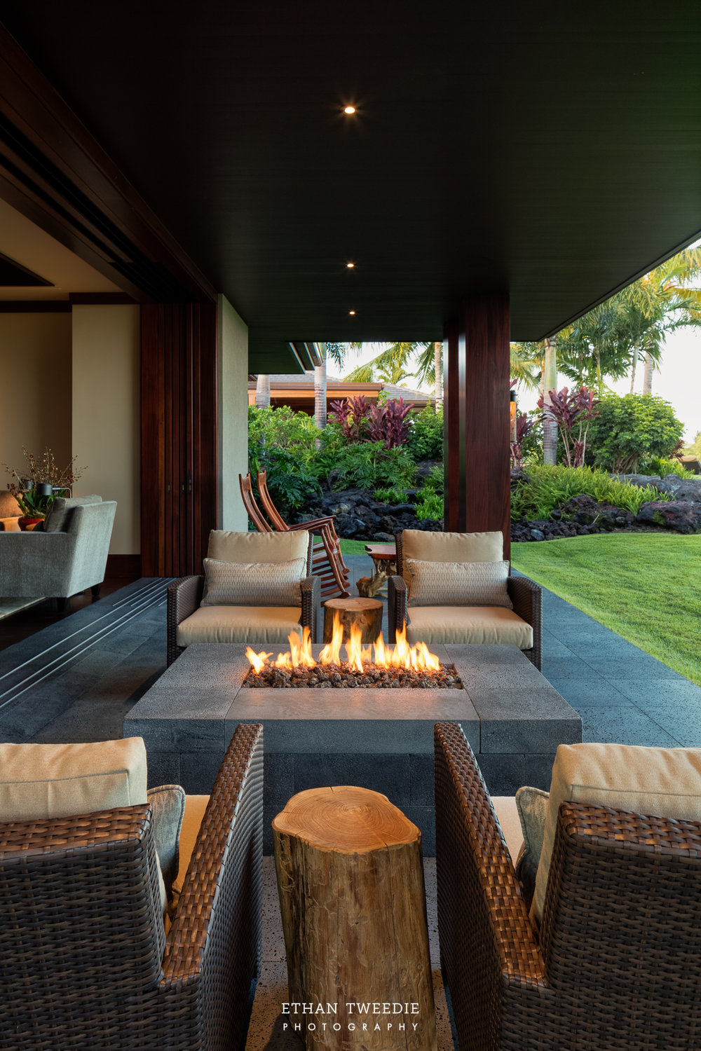 Firepit at Master Suite