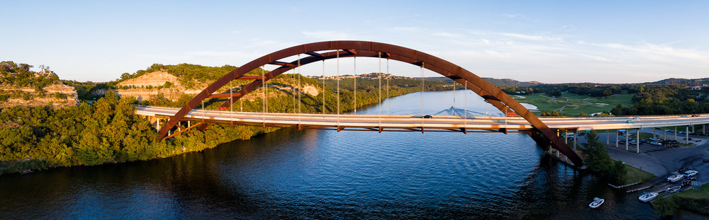 360 Bridge Aerial, Austin Texas