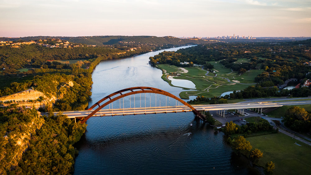 360 Bridge Aerial Photography, Austin Texas
