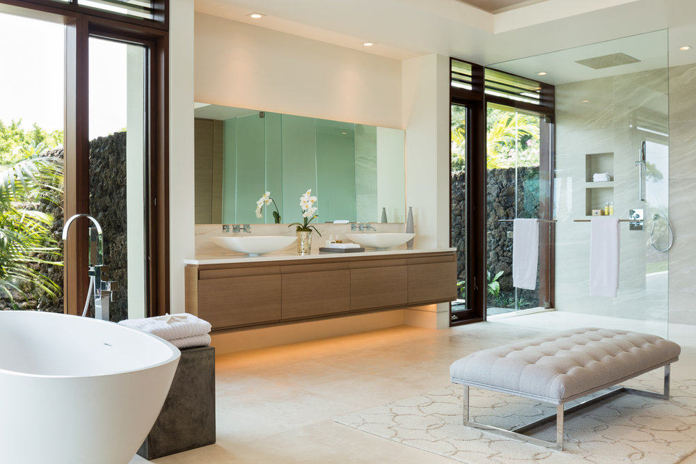 Master Bath Noi'ulu Estates Project, Openspace Architecture and Architerior Design, LTD.