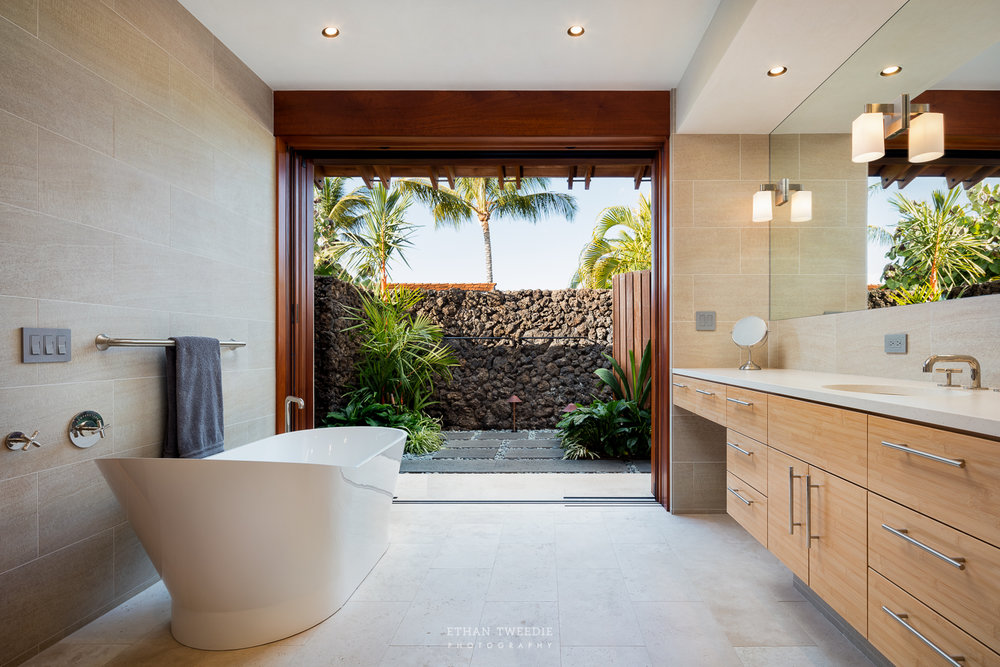 Master Ensuite and Outdoor Shower Garden