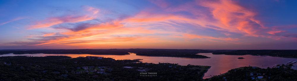 Lake Travis Aerial Panorama, Austin Texas