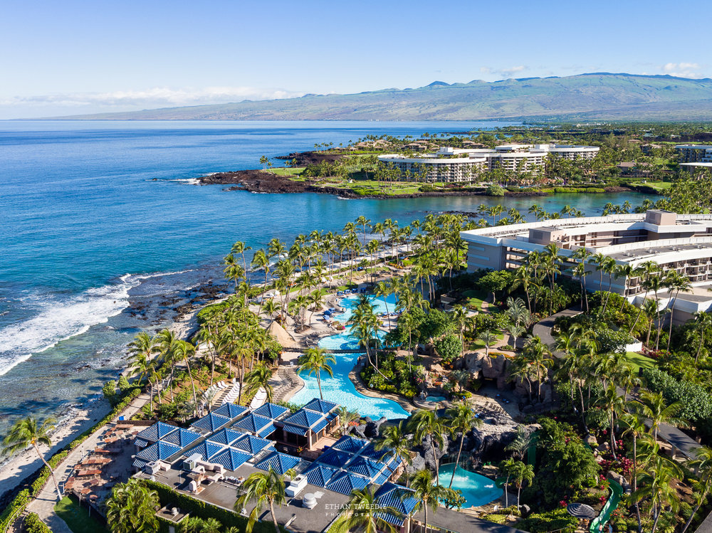 Hotel and Resort Aerial Photography, Hilton Waikoloa, Hawaii