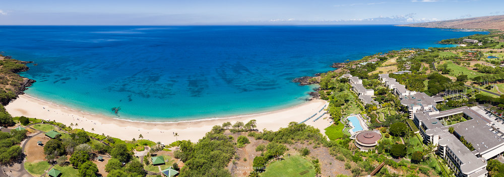 Hapuna Prince Hotel Aerial Panorama, Hawaii