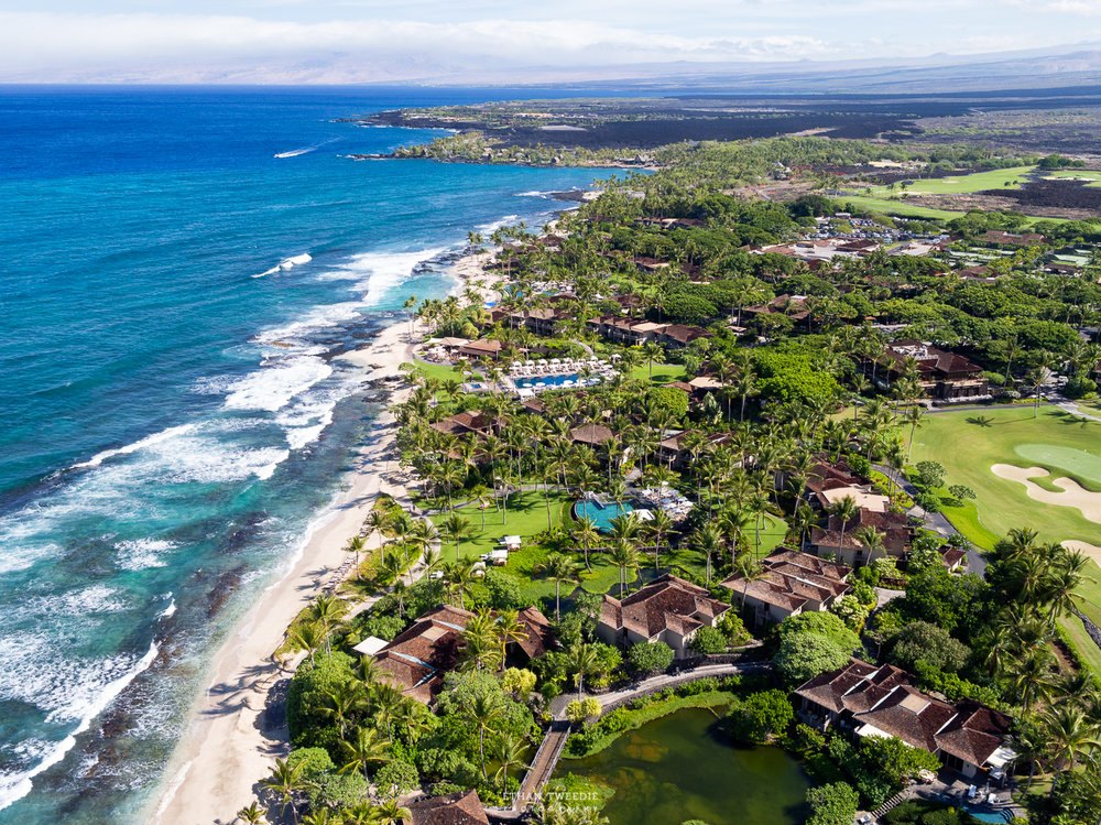 Four Seasons Hualalai Beach Aerial Photography, Hawaii