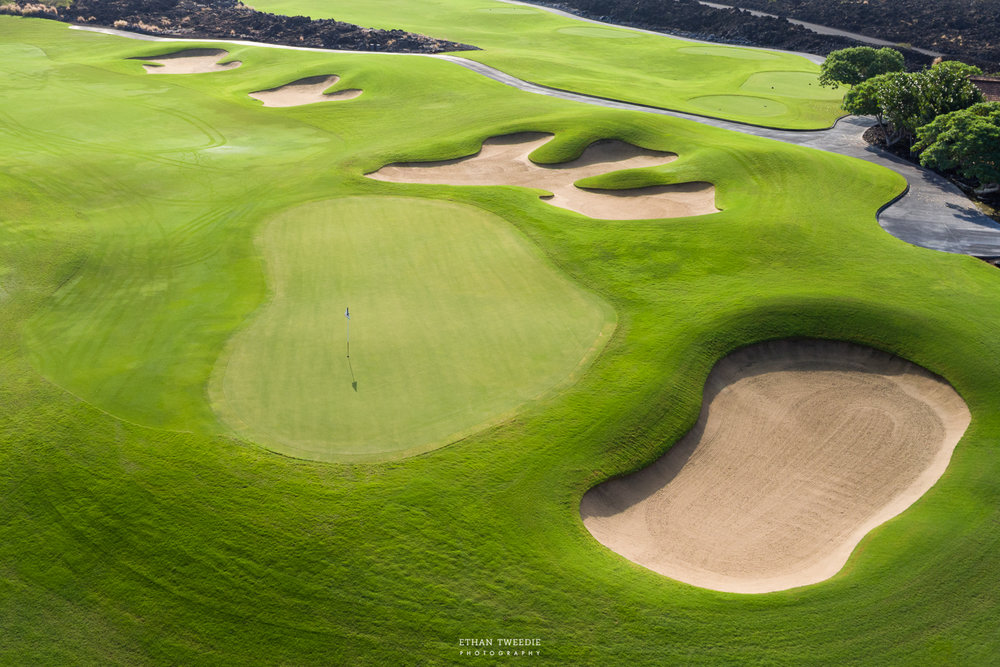 Four Seasons Hualalai Golf Course Aerial Photography, Hawaii