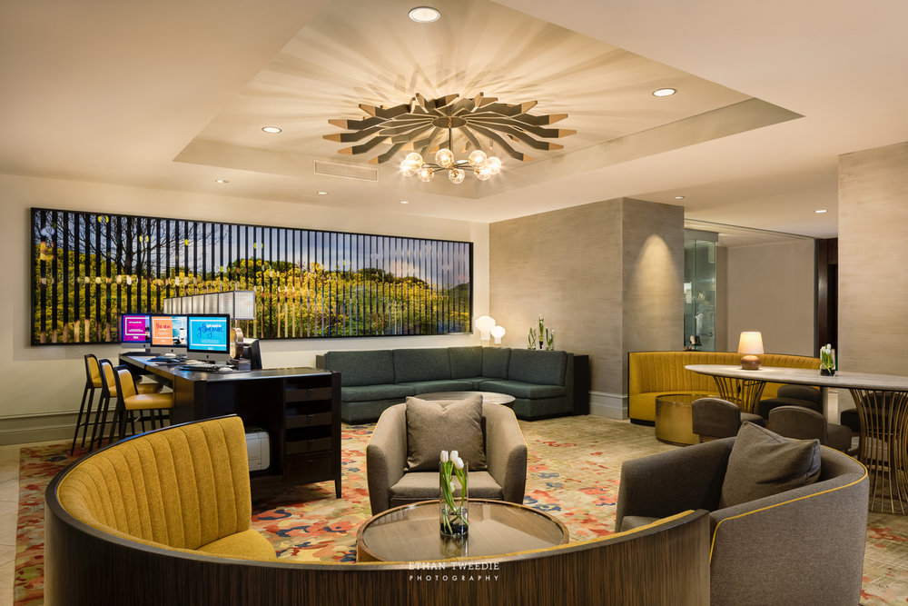 Hilton Austin Business Center and Lobby Lounge