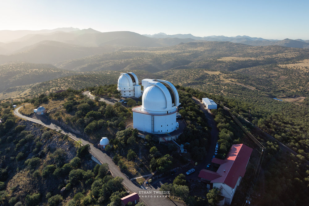 Aerial of McDonald Observatory, Ft. Davis Texas.  Photo Credit  Ethan Tweedie Photography