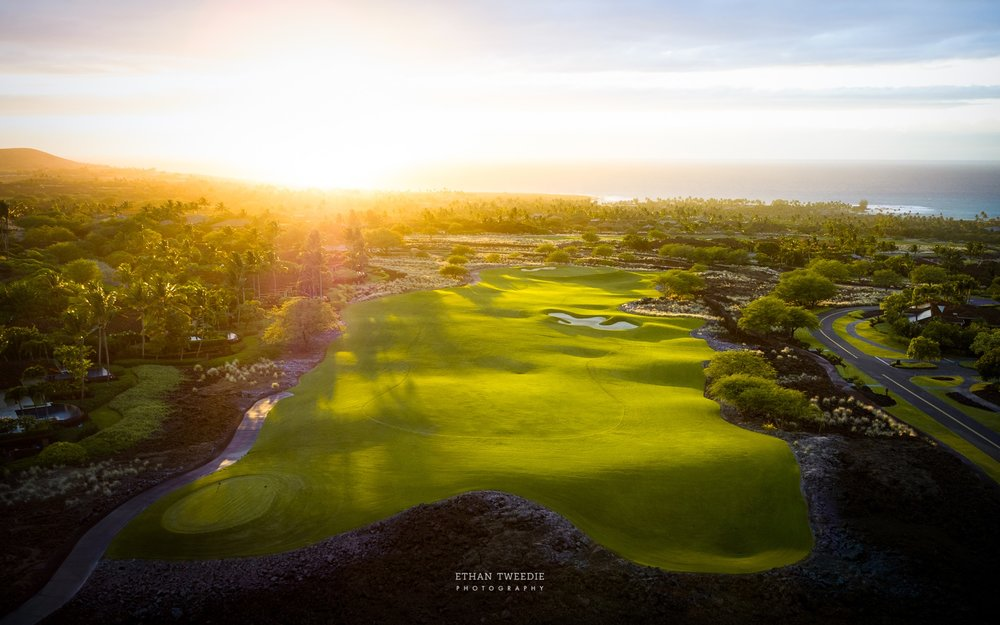 Keolu Course at Sunset