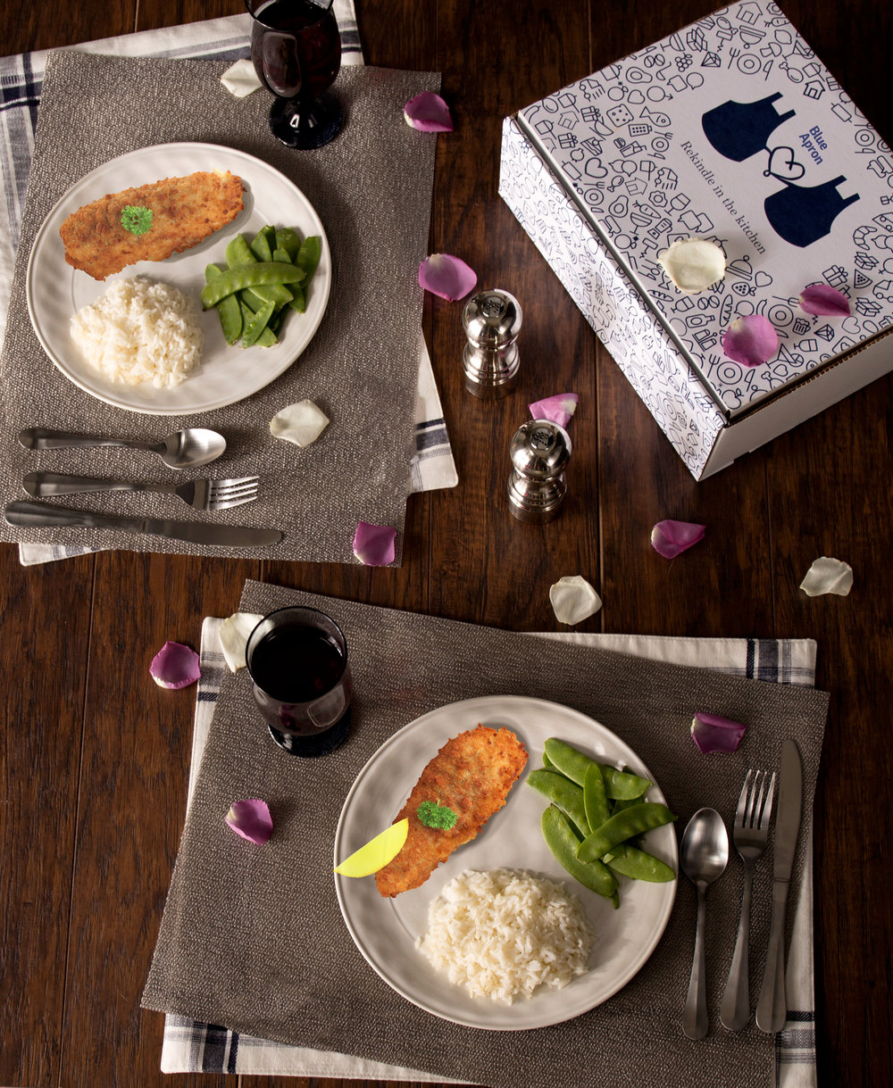 Blue Apron helps couples to rekindle their love in the kitchen.