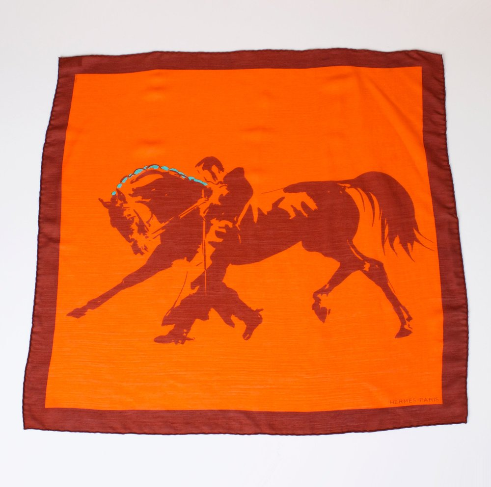 HERMES Scarf with box.