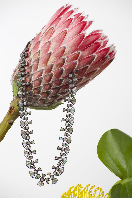 NAK ARMSTRONG Emerald, Moonstone & Labradorite Choker Necklace