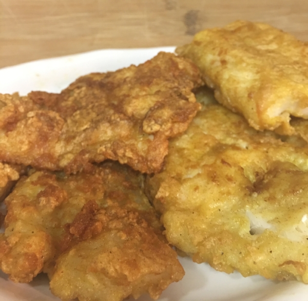 Plantain Flour Fried Fish