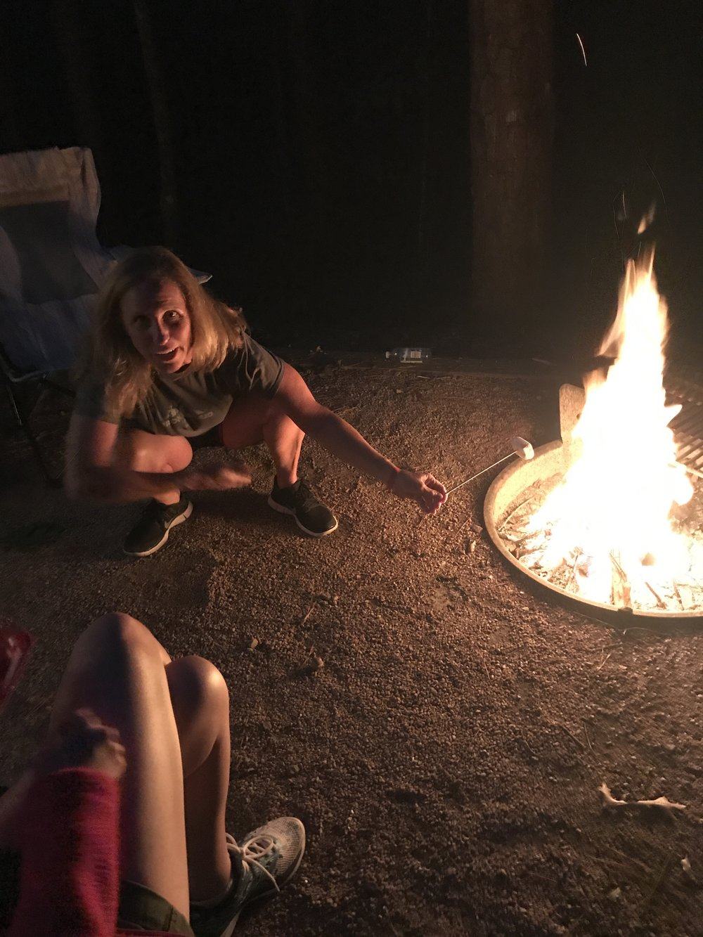 S'mores around the campfire
