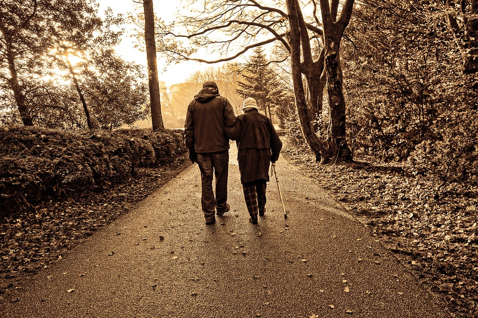 Elderly walking